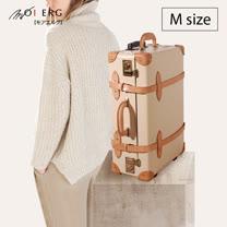【MOIERG】Bonjour復古背包客 vulcanized fibre trunk (M-21吋) Off White