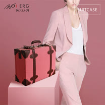 【MOIERG】Old Time迷戀舊時光combi suitcase (M-14吋) Pink