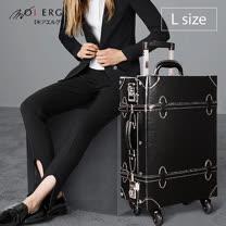 【MOIERG】Vintage Feel愛上復古潮旅行plain trunk (L-23吋) Black