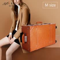 【MOIERG】Vintage Feel愛上復古潮旅行plain trunk (M-19吋) Camel