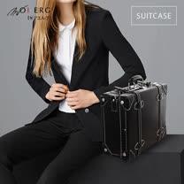 【MOIERG】Vintage Feel愛上復古潮旅行plain suitcase (M-14吋) Black