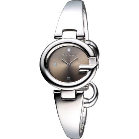 GUCC I Guccissima 時尚手鐲腕錶-咖啡/27mm YA134503