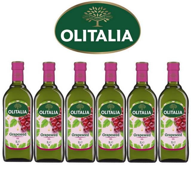 Olitalia奧利塔超值葡萄籽油禮盒組(1000mlx6瓶)