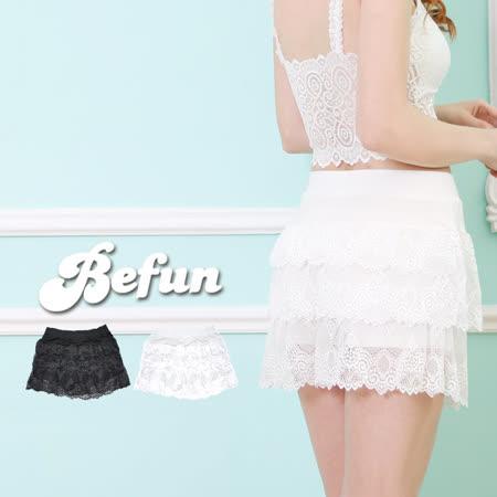【 BF 內著專科 】#HTEA A117 蛋糕層 蕾絲紗 安全褲 內有四角安全褲 涼感舒適 搭配洋裝禮服 雪紡紗