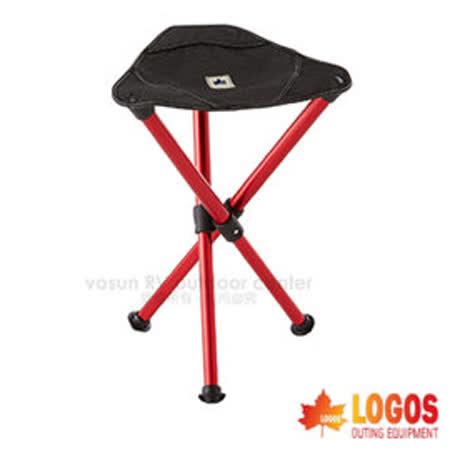 【日本 LOGOS】7075 超輕量鋁合金三腳椅/兒童椅.折疊椅.折合椅.露營椅.超耐重.輕巧.烤肉.釣魚.演唱會.露營 / 73175060 紅