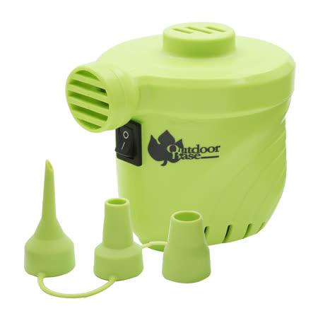 【OutdoorBase】颶風充氣馬達-蘋果綠-28293 (PSI出氣量UP。充氣床馬達。可充氣及洩氣。電動充氣幫浦)