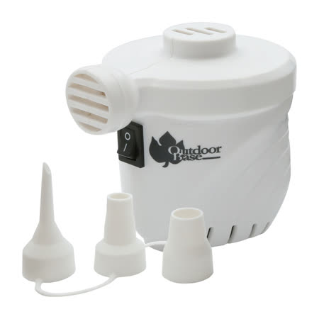 【OutdoorBase】颶風充氣馬達-米白色-28286 (PSI出氣量UP。充氣床馬達。可充氣及洩氣。電動充氣幫浦)