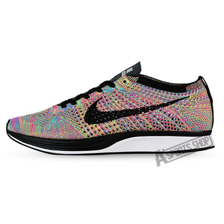 NIKE (男) 耐吉 Nike Flyknit Racer Multicolor 慢跑鞋 限量 彩虹編織-A526628004