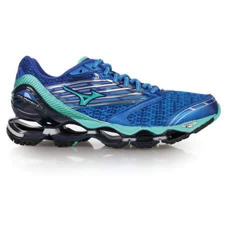 (女) MIZUNO WAVE PROPHECY 5 慢跑鞋- 路跑 美津濃 藍湖水綠