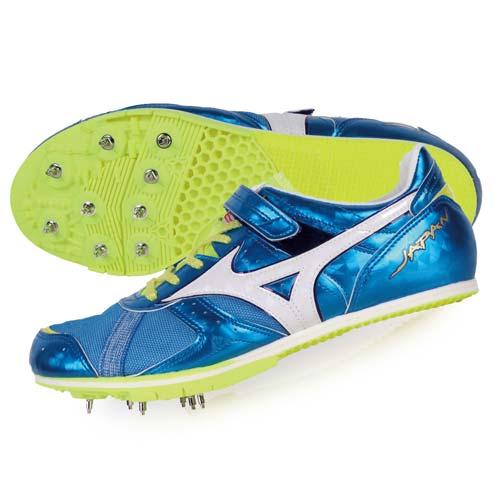 ^(男^) MIZUNO FIELD GEO LJ JAPAN日製田徑釘鞋~競賽 寶藍白