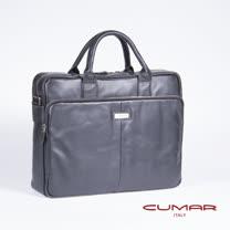 CUMAR全皮公事包-黑色