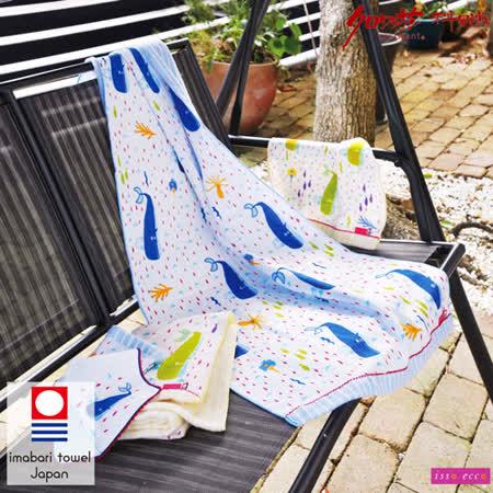 【クロワッサン科羅沙】日本ISSO ECCO今治(imabari towel)~無撚海洋世界毛巾34x80cm