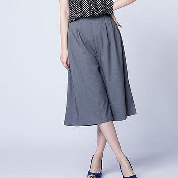 女時尚前折寬褲-灰色(M~L)