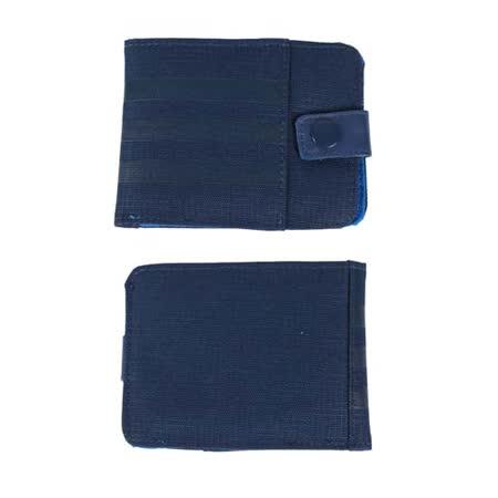 ADIDAS 皮夾-手拿包 收納包 錢袋 零錢包 愛迪達 丈青藍 F