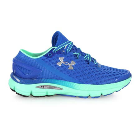 (女) UNDER ARMOUR UA SPEEDFORM GEMINI2慢跑鞋 寶藍綠