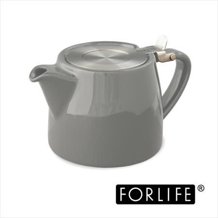 【美國FORLIFE】簡約平口掀蓋壺 530 ml - 低調灰