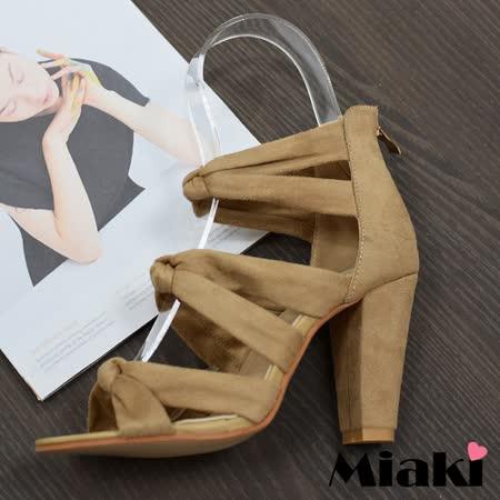 【Miaki】高跟鞋東大門限定羅馬涼鞋 (杏色 / 黑色)