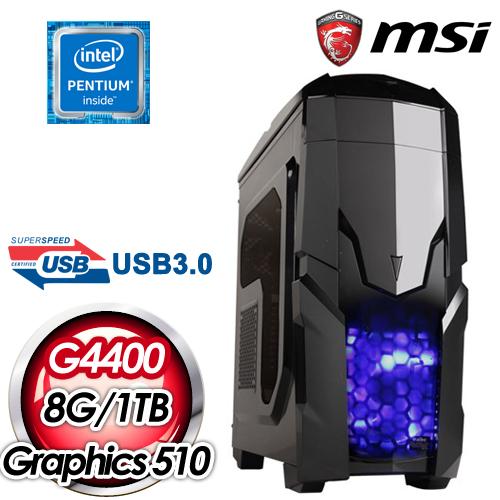 微星H110平台~虛空鎖鏈~Intel Pentium G4400 8G 1TB 高效能燒