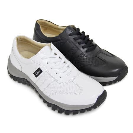 【GREEN PHOENIX】悠閒極簡素面綁帶全真皮厚底女休閒鞋