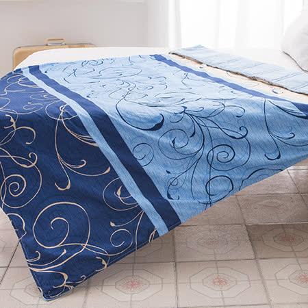 J-bedtime【藍調】3M專利透氣吸濕排汗防蹣抗菌舖棉四季涼被(150x175)