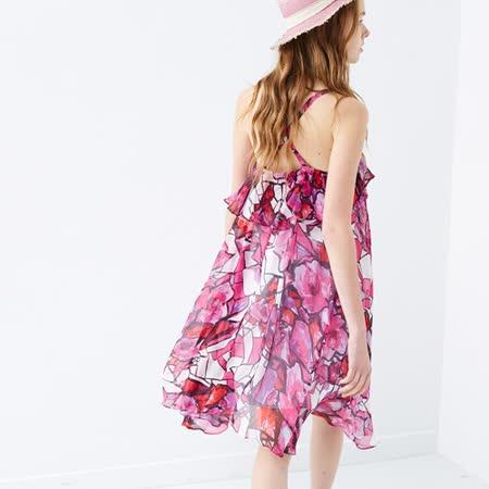 ICHE 衣哲 滿版印花度假感洋裝