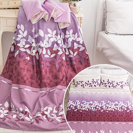 J-bedtime【美麗花絮】3M吸濕排汗防蹣抗菌雙人四件式涼被床包組