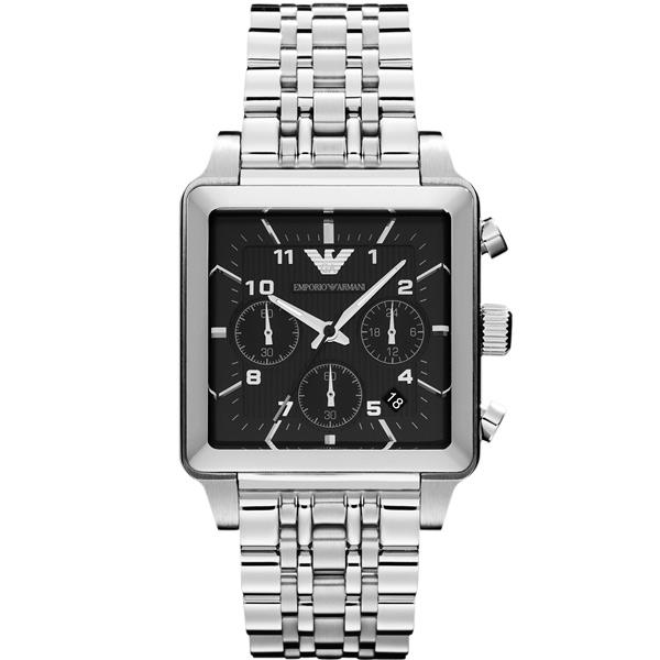 ARMANI  計時腕錶~黑40mm AR1626