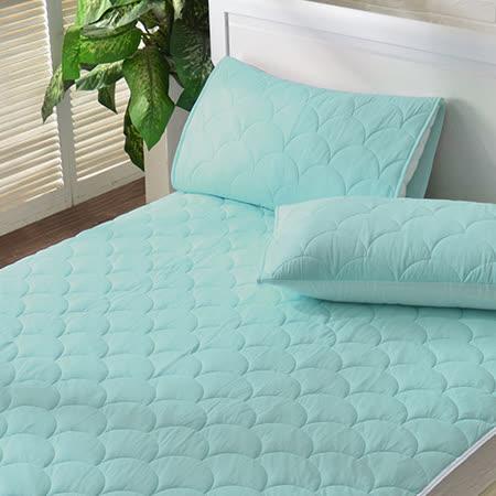 義大利La Belle《繽紛漾彩-粉綠》超涼感信封式保潔枕套--2入