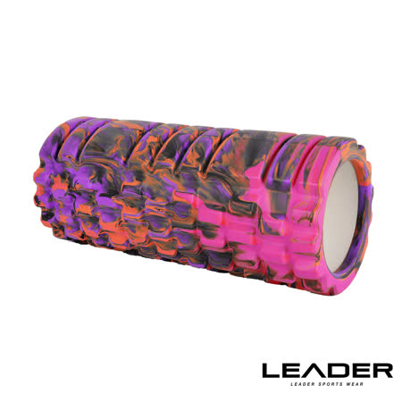 【Leader X】專業塑身美體瑜珈棒.滾筒.按摩輪(紫迷彩)