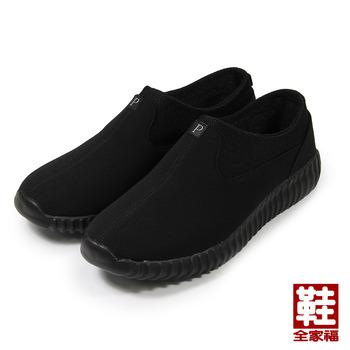 (男) SM POLO 套式休閒鞋 黑 鞋全家福