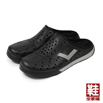 (男) PONY 套式便鞋 黑銀 鞋全家福