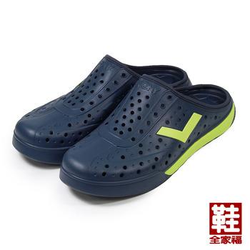 (男) PONY 套式便鞋 藍螢綠 鞋全家福