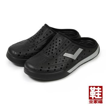(女) PONY 套式便鞋 黑銀 鞋全家福