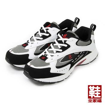 (男) FUH KEH 超輕慢跑鞋 灰黑 鞋全家福