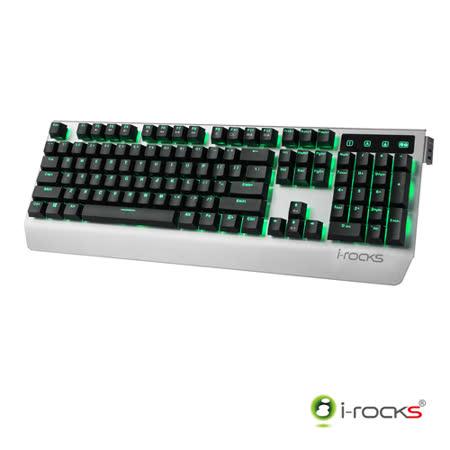 i-Rocks K60M全背光金屬機械式電競鍵盤-銀黑