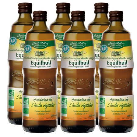 【法國艾米爾諾耶】100%有機冷壓初榨五合一植物油(6入/箱)