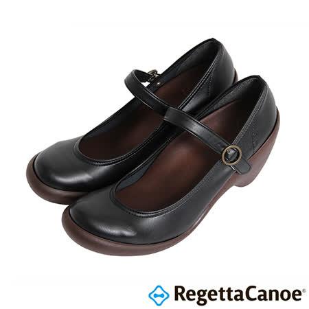 RegettaCanoe-女款-CJHS-6608優雅樂步休閒鞋-經典黑