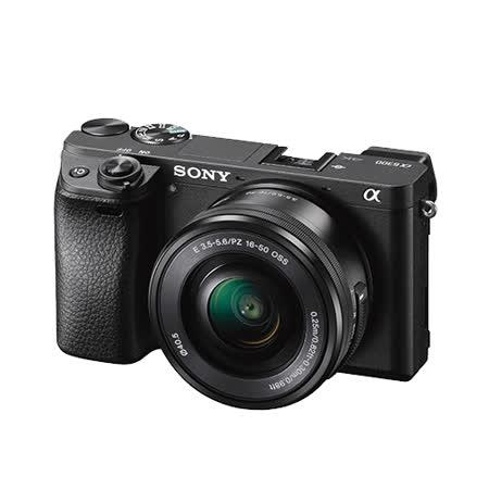 SONY A6300L 16-50mm單鏡組(公司貨)~送32G高速卡+專用電池+座充+專用相機包+清潔組+保護貼+讀卡機