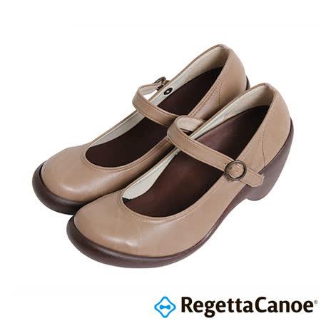 RegettaCanoe-女款-CJHS-6608優雅樂步休閒鞋-灰棕色