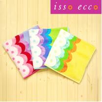 【クロワッサン科羅沙】日本ISSO ECCO今治(imabari towel)~無撚水玉波紋浴巾 70*140cm