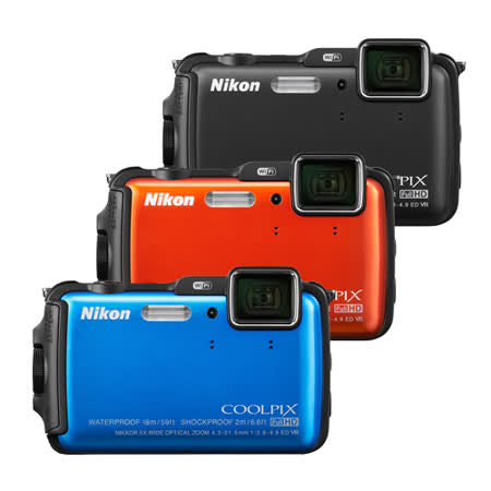 Nikon AW120 防水防震耐寒Wi-Fi機 16G全配(公司貨)