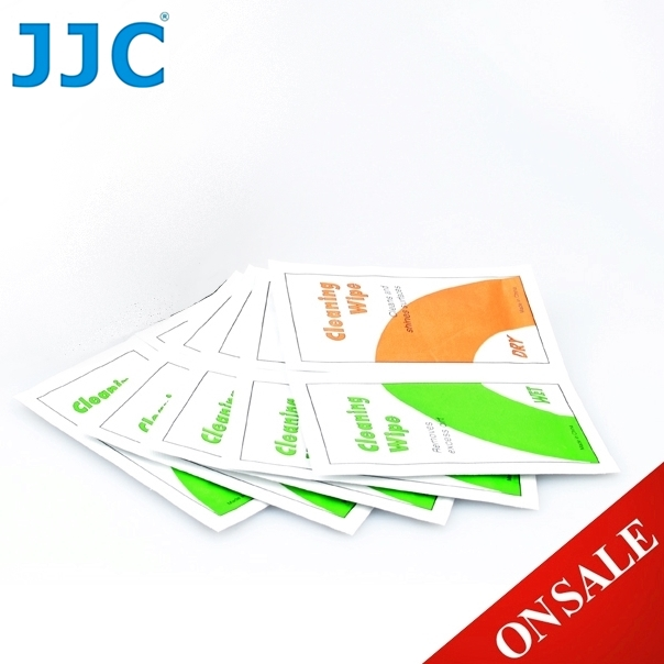 JJC含清潔溶劑光學拭鏡紙CL-T3(10片,乾和濕各5片)