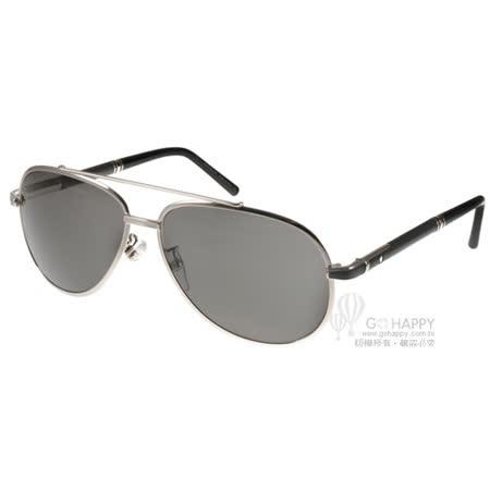 MONT BLANC太陽眼鏡 頂級精品男士飛官款(銀-黑) #MB511T 16A