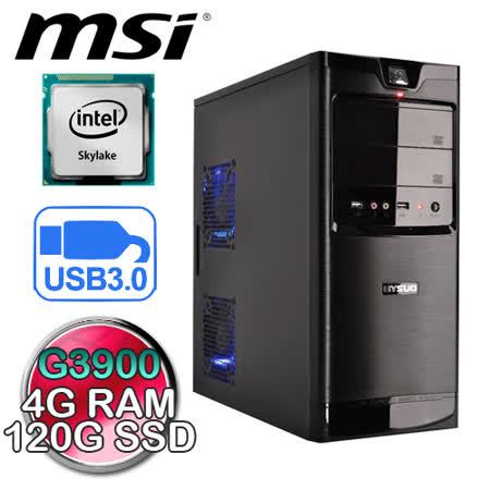 微星H110M平台【忍者之力】Intel G3900-2.8G 120G SSD極速效能電腦