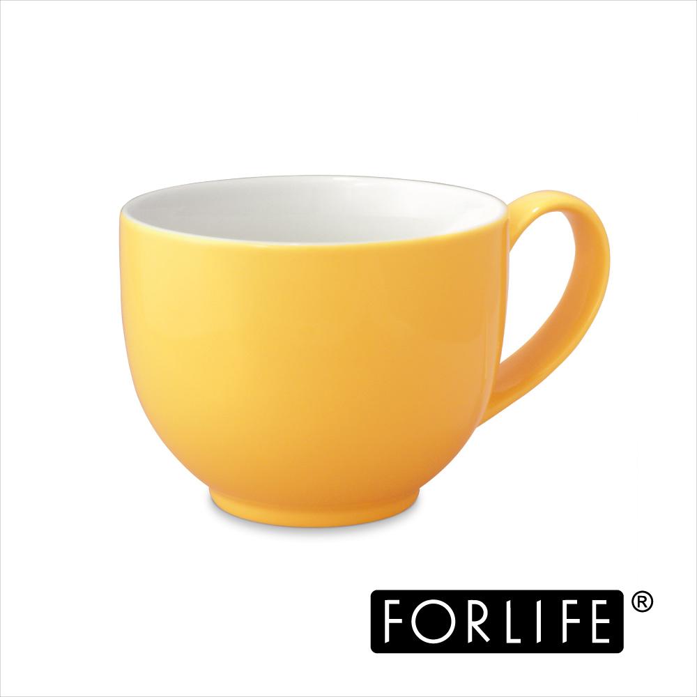 ~美國FORLIFE~QQ可愛茶杯^(附把手^)295ml ~ 亮麗黃^(兩入組^)
