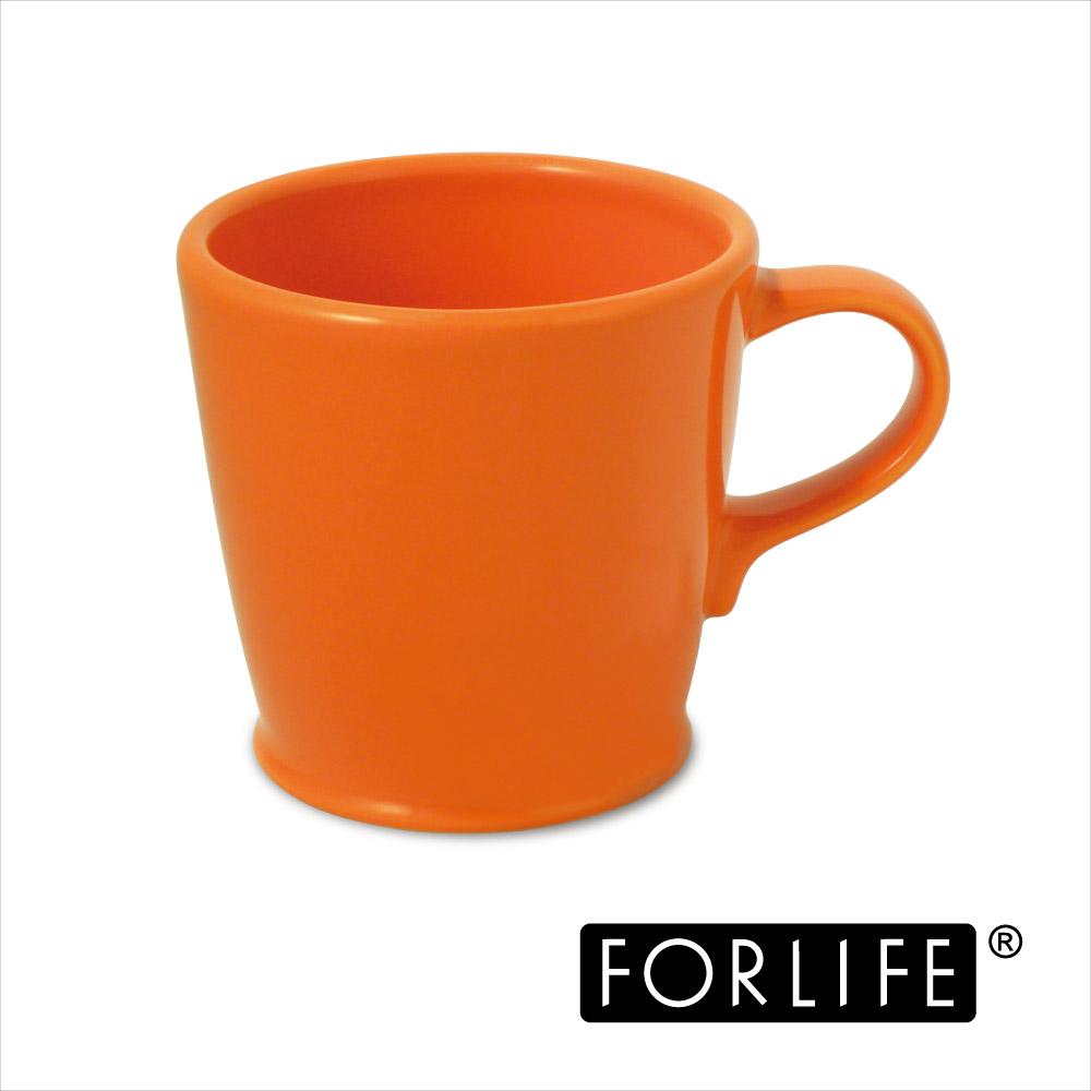 ~美國FORLIFE~復古咖啡杯296 ml ~ 活力橘 兩入組