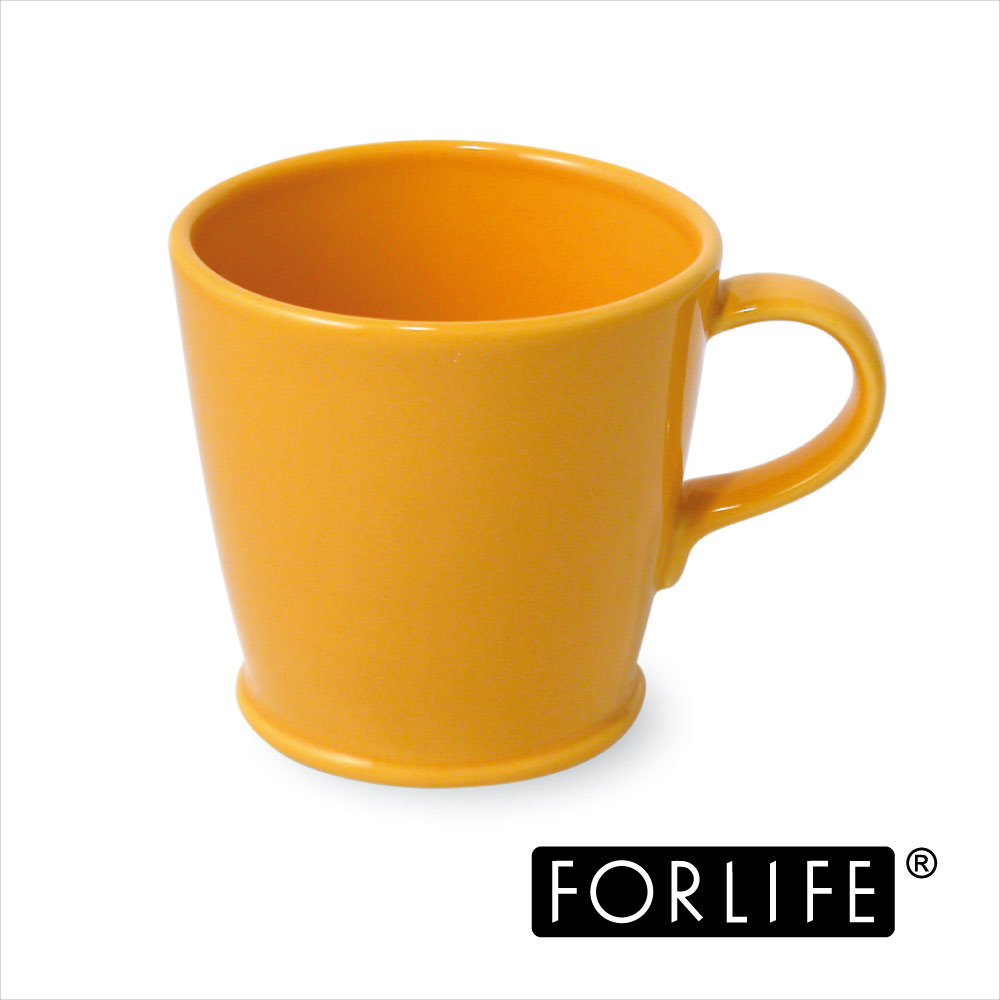 ~美國FORLIFE~復古咖啡杯296 ml ~ 亮麗黃^(兩入組^)