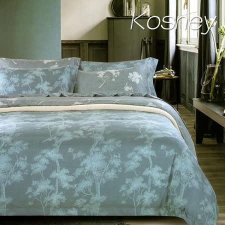 《KOSNEY  樹影》雙人100%天絲TENCEL四件式兩用被床包組