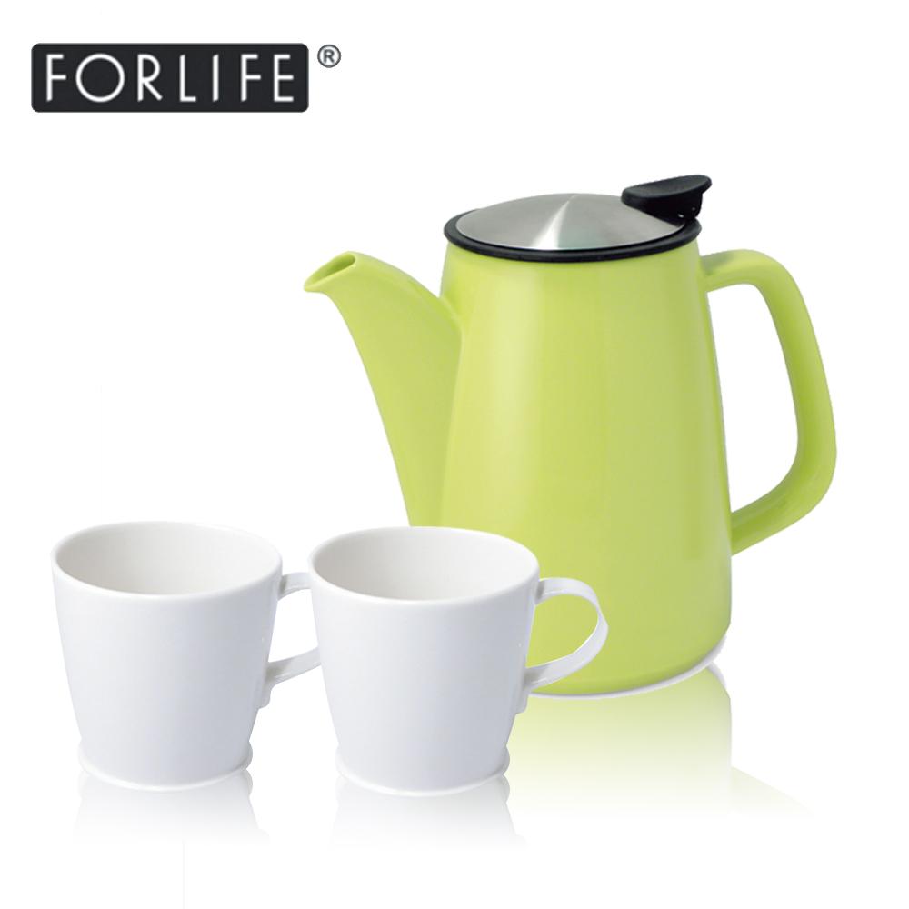 ~美國FORLIFE~復古咖啡兩用壺888 ml ~ 漾果綠 FORLIFE 簡約咖啡杯
