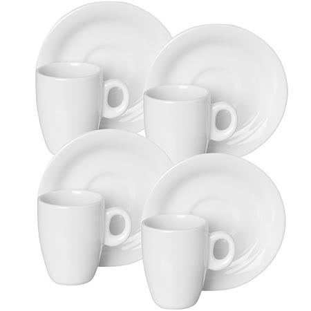 《EXCELSA》Division陶製咖啡杯碟組4入(80ml)